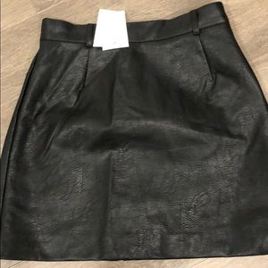 Dresses & Skirts - H&M faux leather skirt size 4